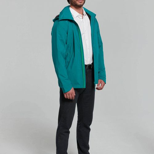 Basil Skane Men regnjakke - Teal Green